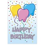 Medical Arts Press® Dental Birthday Cards; Tooth Balloons, Blank