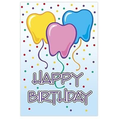 Medical Arts PressR Dental Birthday Cards Tooth Balloons Blank