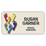 Custom Printed Medical Arts Press® Full-Color Podiatry Name Badges; Standard, Colored Feet