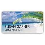 Custom Printed Medical Arts Press® Full-Color Generic Name Badges; Palm Branch with Ocean