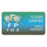 Custom Printed Medical Arts Press® Full-Color Eye Care Name Badges; Standard, Glasses