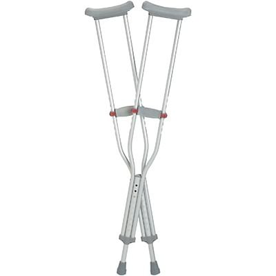 Medline Red Dot Adjustable Crutches; Youth