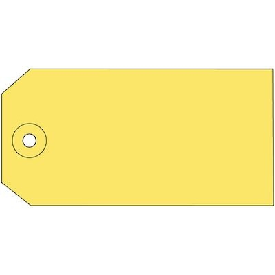 """Image of Yellow 4-3/4x2-3/8"""" Plain Shipping Tag"""