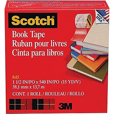 Scotch® Book Tape; 1-1/2W, 24/Carton