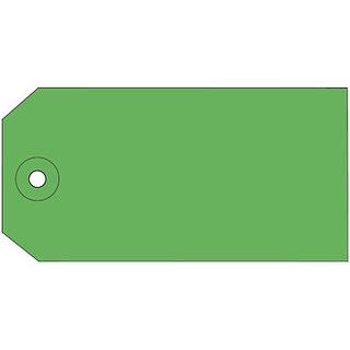 Quill Brand® Plain Shipping Tag, 4-3/4 x 2-3/8, Green, 1000/Box (764303GN)