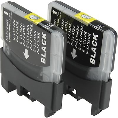 Quill Brand Compatible Brother® MFC290C (LC61BK) (LC612PKS) Black Ink Cartridges Dual Pack (100% Satisfaction Guaranteed)