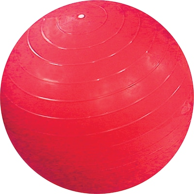 "Cando® Inflatable Exercise Ball; 75cm - 30"", Red"