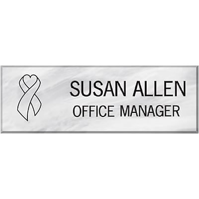 professional name badges 3x1 pearl quill com