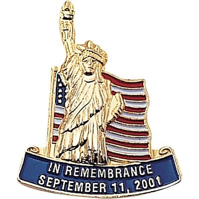 Patriotic Services Lapel Pins; In Remembrance September 11, 2001
