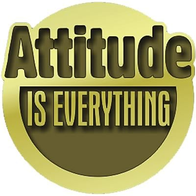 Recognition Lapel Pins; Attitude is Everything