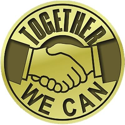 Recognition Lapel Pins; Together We Can