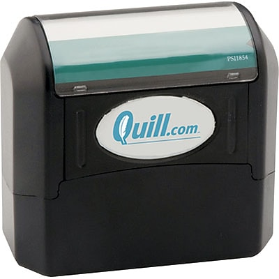 Quill Brand® Pre-Inked Eco-Friendly Stamp; 11/16x2-1/8, Up to 5 Lines