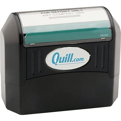 Quill Brand® Pre-Inked Eco-Friendly Stamp; 13/16x2-1/2, Up to 6 Lines
