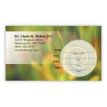 Medical Arts Press® WriteOnce® Peel-Off Sticker Appointment Cards; Multicolored Swirl and Graphic