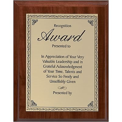 Custom Printed Recognition Plaque