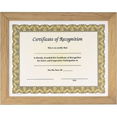 Awards4Work® Classic Frames; Oak