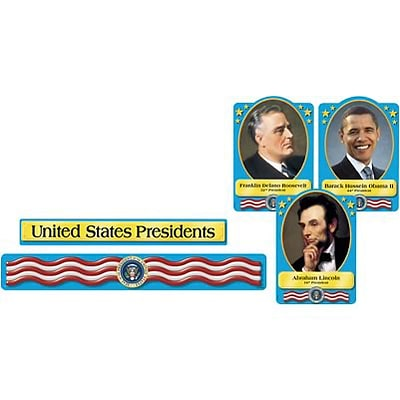 Trend Enterprises U.S. Presidents Bulletin Board Set, 54 pieces (T-8065)