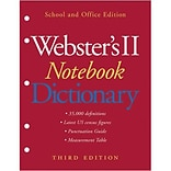 Websters II Notebook Dictionary, Third Edition