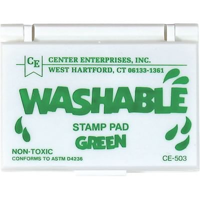 Washable Stamp Pads; Center Enterprises Green
