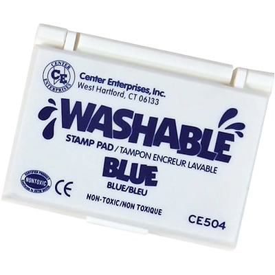 Washable Stamp Pads; Center Enterprises Blue