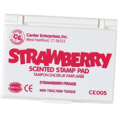 Center Enterprises Scented Stamp Pad/Refill; Strawberry/Hot Pink