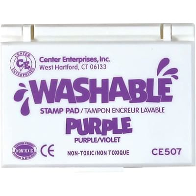 Washable Stamp Pads; Center Enterprises Purple