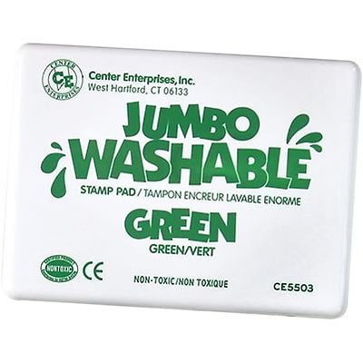 Washable Stamp Pads; Center Enterprises Green, Jumbo