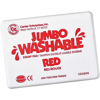 Washable Stamp Pads; Center Enterprises Red, Jumbo