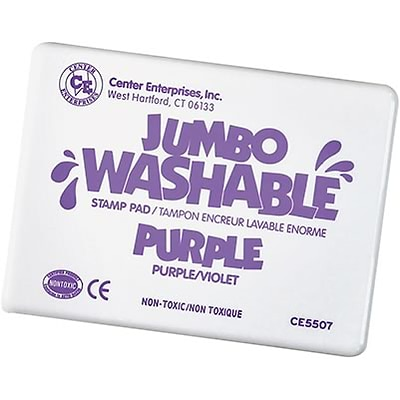 Washable Stamp Pads; Center Enterprises Purple, Jumbo