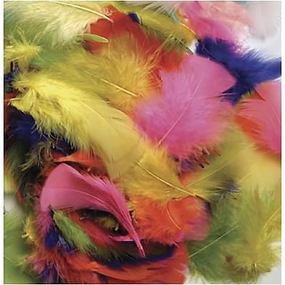 Chenille Kraft® Feathers; Bright Hues, 14 Grams