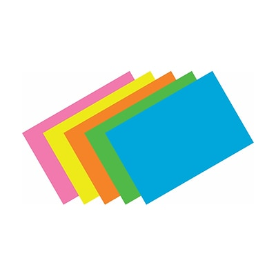 Top Notch Assorted Brite Index Cards; Blank, 4x6