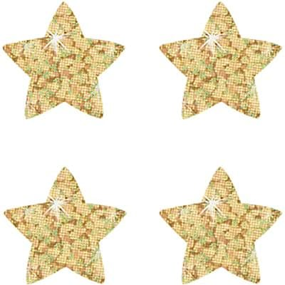 Trend® superShapes Sparkle Star Chart Seals; Gold