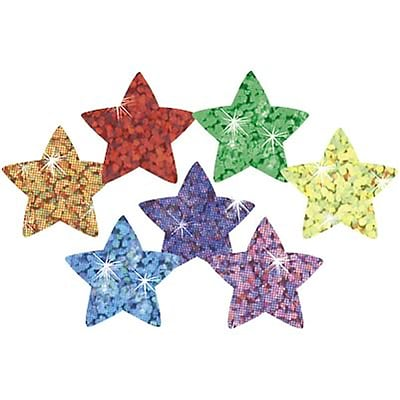 Trend® superShapes Sparkle Star Chart Seals; Assorted