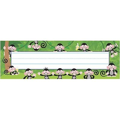 Trend® Desk Toppers® Name Plates; Monkey Mischief