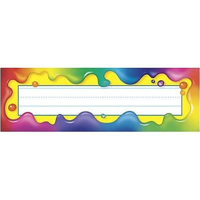 Trend® Desk Toppers® Name Plates; Rainbow Gel