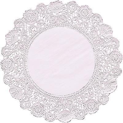 Hygloss Doilies; 6 White Round