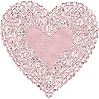 Hygloss Doilies; 4 Pink Hearts