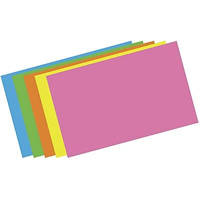 Top Notch Assorted Brite Index Cards; Blank, 5x8