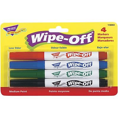 Trend® Wipe-Off® Markers; Standard Colors