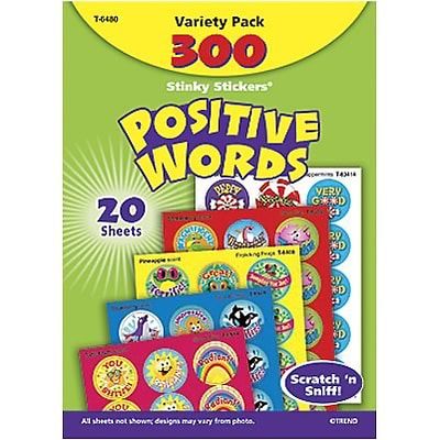 Trend® Stinky Stickers® Variety Packs; Positive Words, Scented 300/Pack