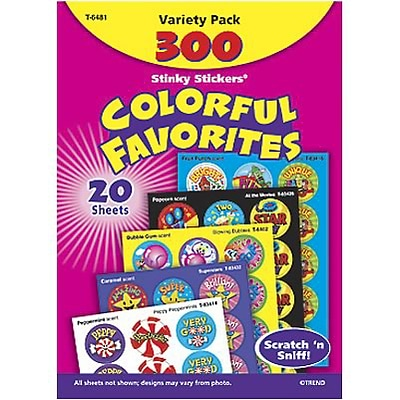 Trend® Stinky Stickers® Variety Pack; Colorful Scented Favorites, 300/Pack