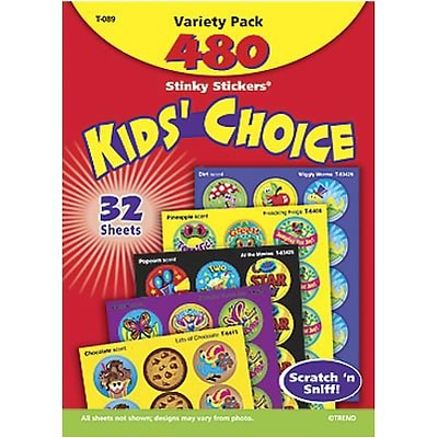 Trend® Stinky Stickers® Variety Packs; Kids Choice, Scented 480/Pack