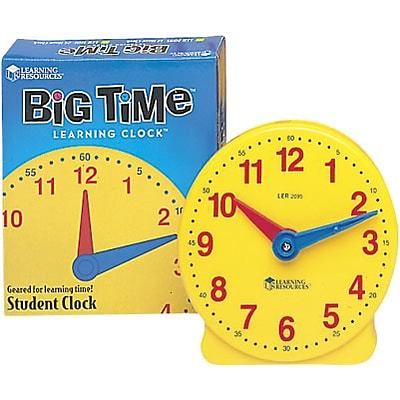 Time; Learning Resources® Big Time Learning Clock, 12 Hour Student Clock