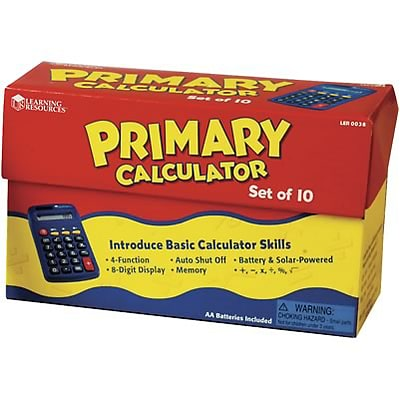 Learning Resources® Primary Calculator, Set of 10