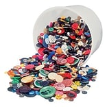 Hygloss Bucket O Buttons, Assorted Colors, 16 oz. (HYG5516)