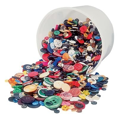 Hygloss Craft Accessories; Assorted Buttons