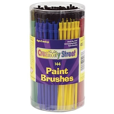 Chenille Kraft® Paint Brushes; 6-Color Assorted 144/Each