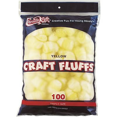 Chenille Kraft® Craft Fluff Balls; Yellow