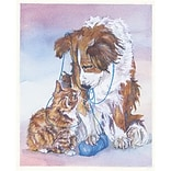 Medical Arts Press® Veterinary Greeting Cards; Pets with Blue Yarn, Personalized