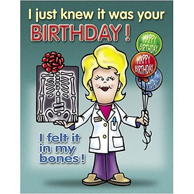 Medical Arts Press Chiropractic Birthday Cards Female Doctor I